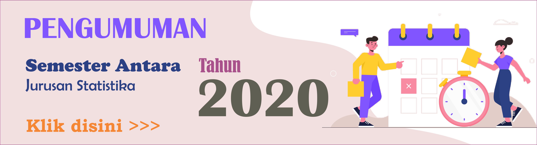 Jadwal Semester Antara Tahun 2020